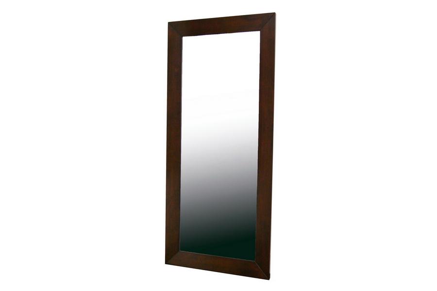 Doniea Dark Brown Wood Frame Mirror Rectangle   Baxton Studio