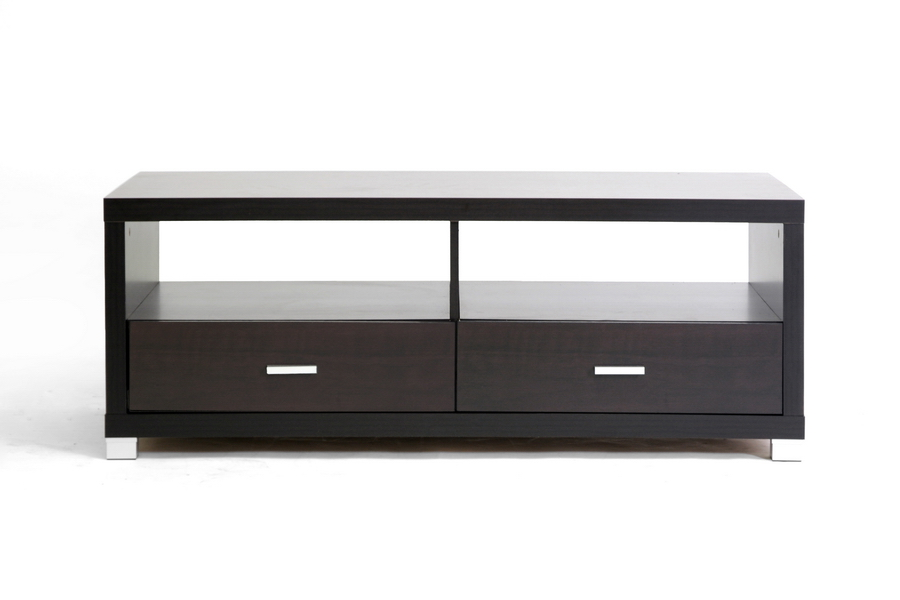 Derwent Coffee Table with Drawers | Baxton Studio