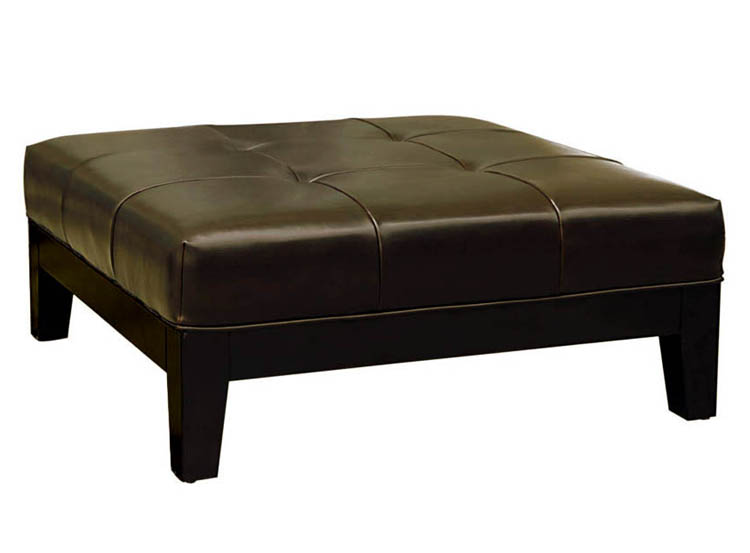 Brown leather ottoman coffee table antique genuine brown leather upholstered bench ottoman Brown leather ottoman coffee table